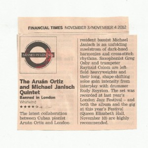 FT review - Banned in London